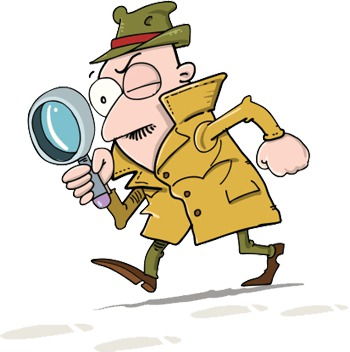 Detective Searching With A Lens